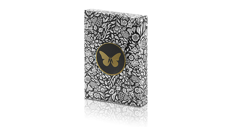 Limited Edition Butterfly Playing Cards Marked (Black and Gold) by Ondrej Psenicka