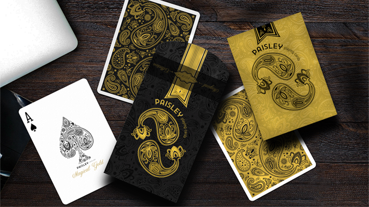Paisley Magical Gold Playing Cards by Dutch Card House Company