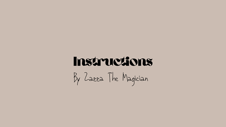 INSTRUCTIONS by Zazza The Magician video DOWNLOAD